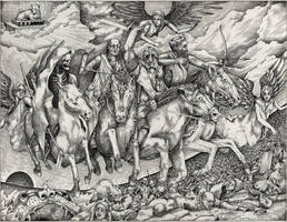 Four Horsemen of the Apocalypse by VladGradobyk