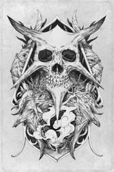 Skull artwork by VladGradobyk