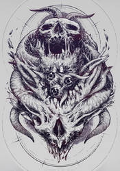 Skull print design by VladGradobyk