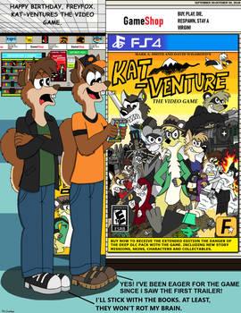 Happy Birthday, FreyFox. Kat-Venture Video Game.
