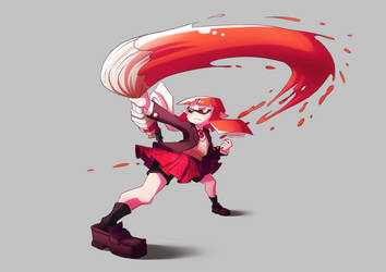 Splatoon fan art - Inkling by Shingo-Hayasa