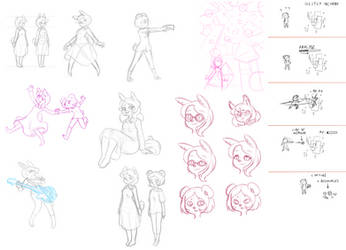 Aquarythm Sketch dump by Shingo-Hayasa