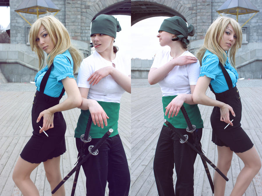 Zoro and Sanji - best friends by NatalieCartman