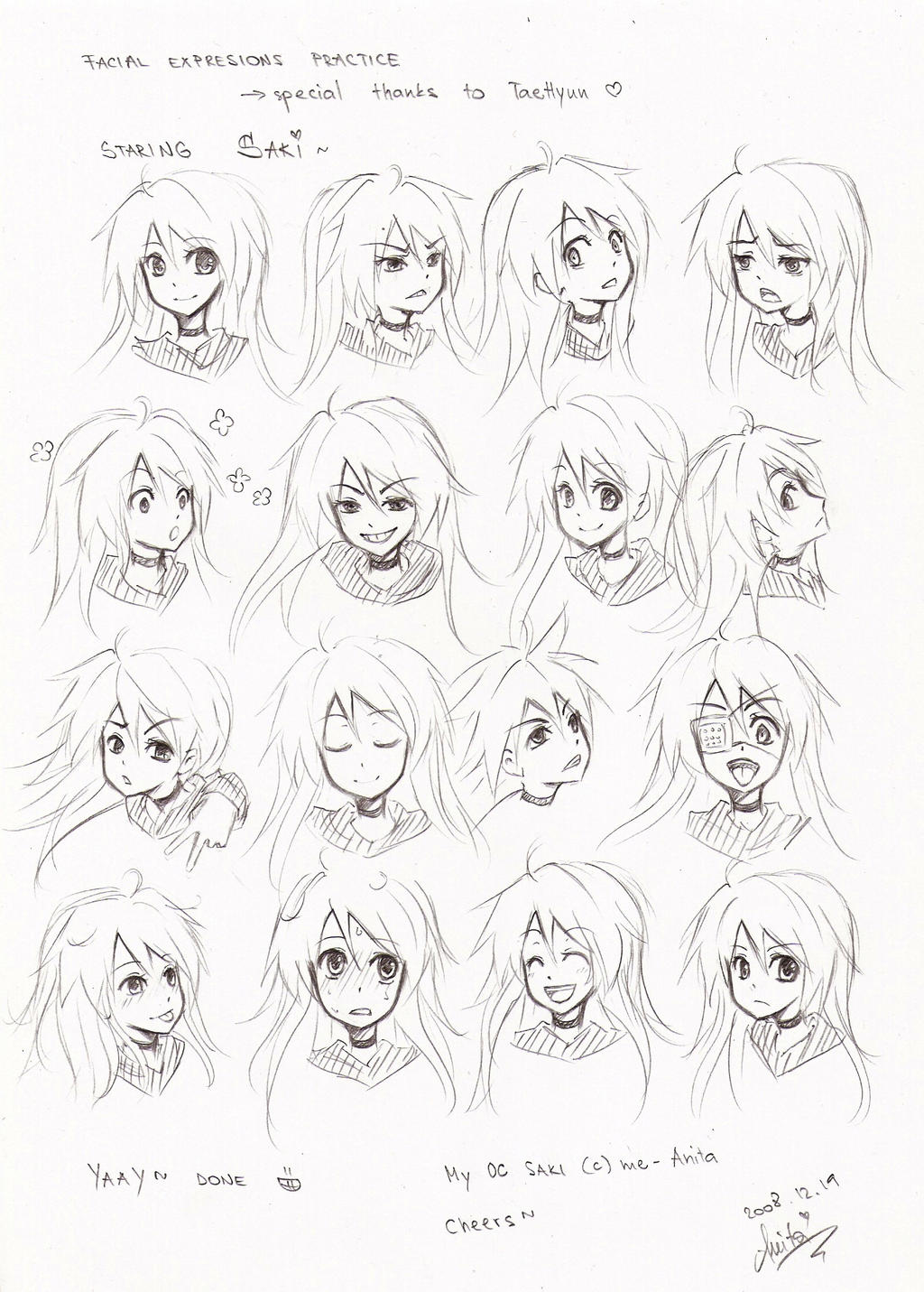 facial expressions practice by akiko-sama