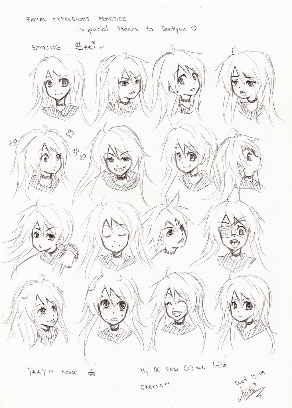 facial expressions practice by akiko-sama