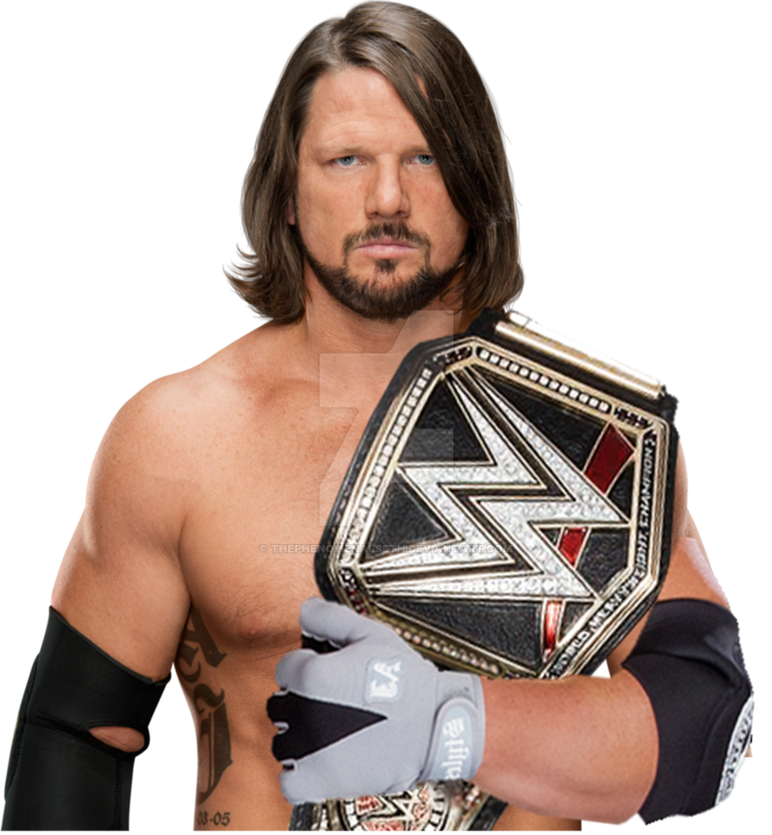 Aj Styles WWE World Champion 2017 By ThePhenomenalSeth On