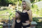 Nastya and Marmor in the garden