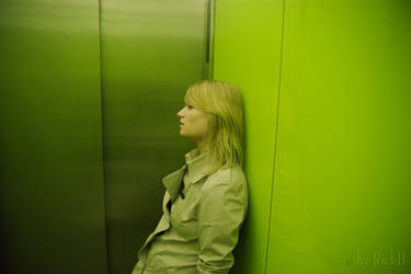 A Girl Tired in an Elevator by RickB500