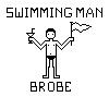 Pixel Swimmer by brobe