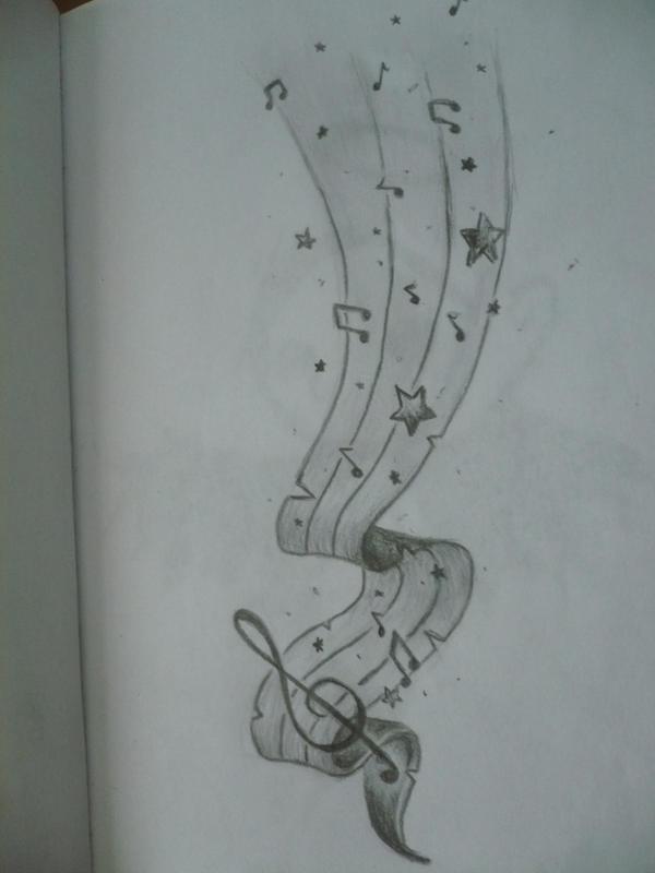 Music Tattoo Sketch Music Tattoo Design by