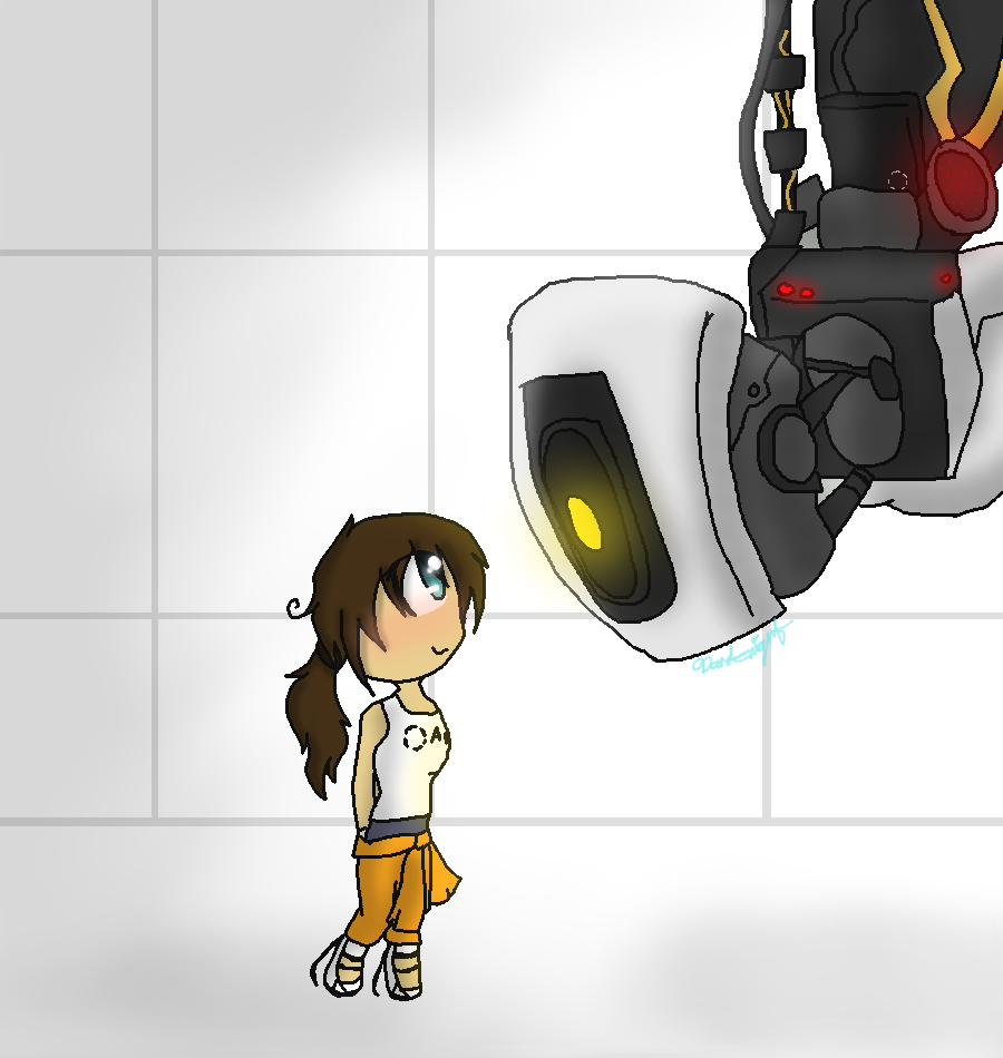 glados and chell relationship goals