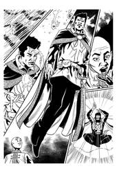 Dr Strange inks sample #3 by CanalesComics