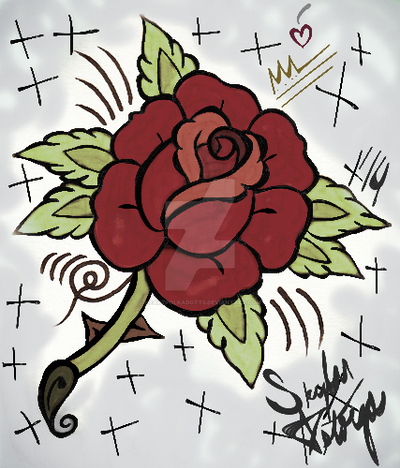 Traditional Rose' by heartpolkadotts