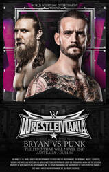 Daniel Bryan vs CM Punk WM 33 by A-XDesigner