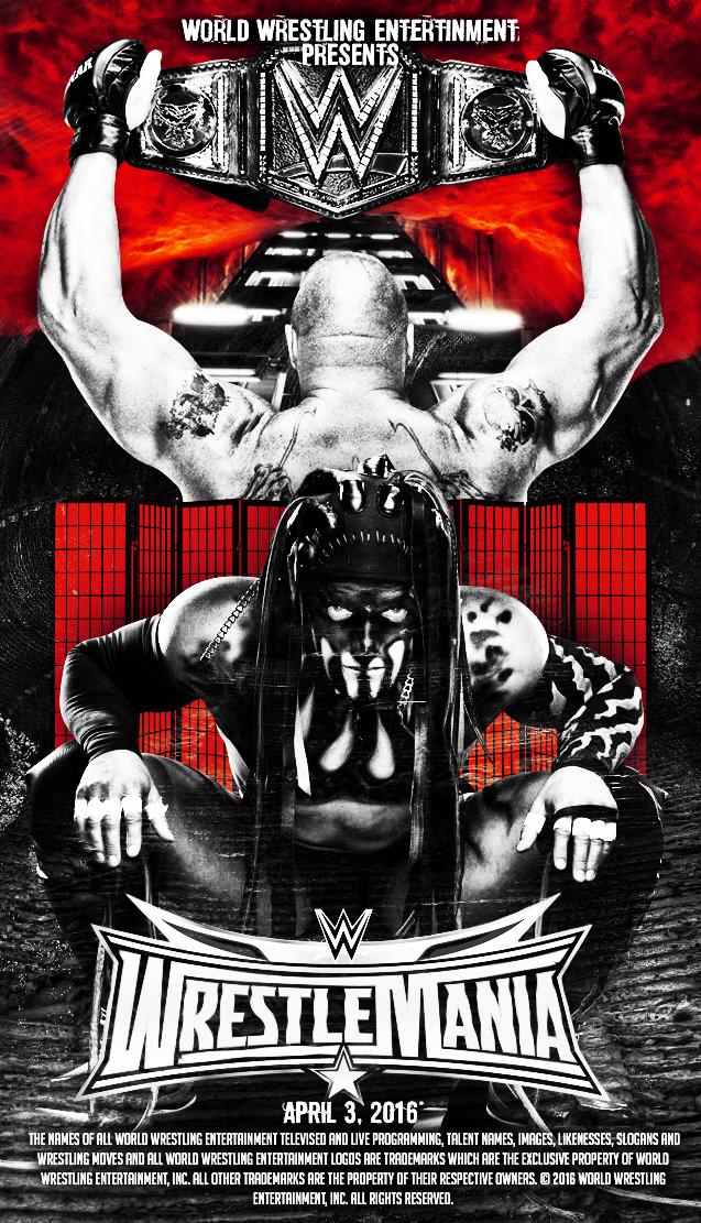 Brock Lesnar Vs Finn Balor WM 32 By A XDesigner
