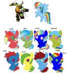 Raph And Rainbow Dash Kids