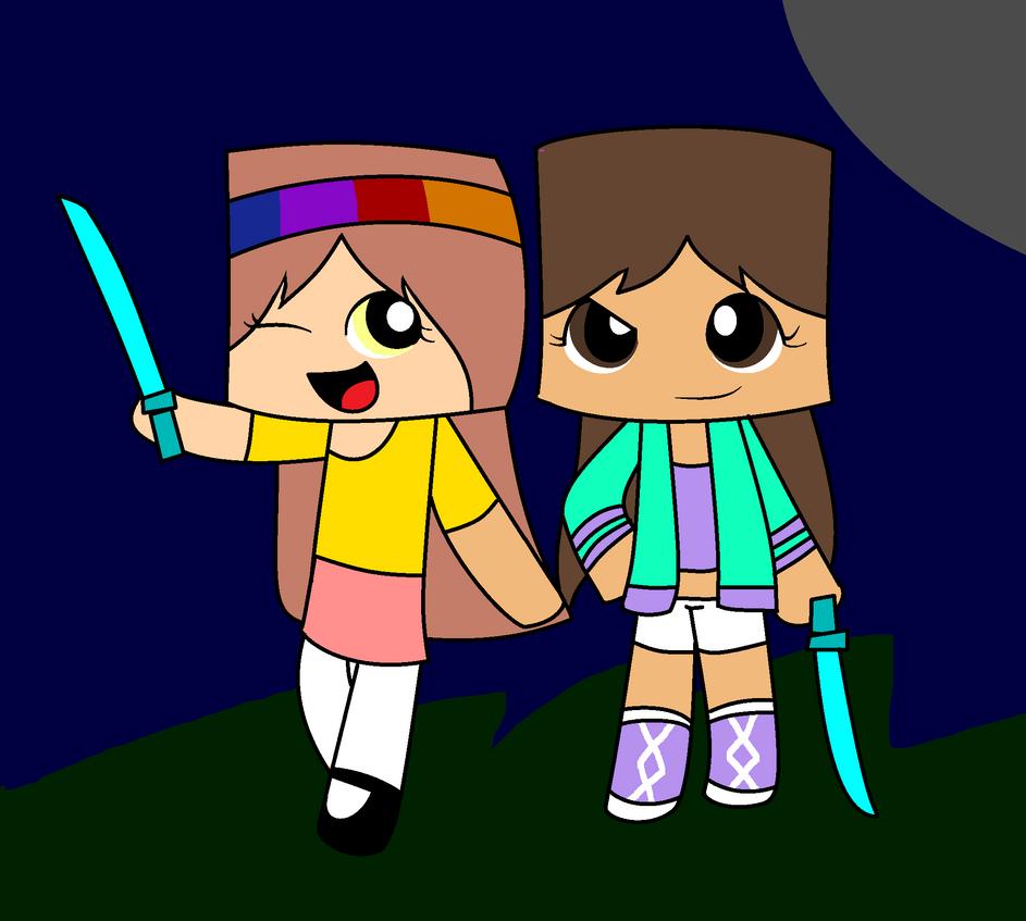 me and lemon trashes minecraft skins by ppgmlpkndpokemongirl on