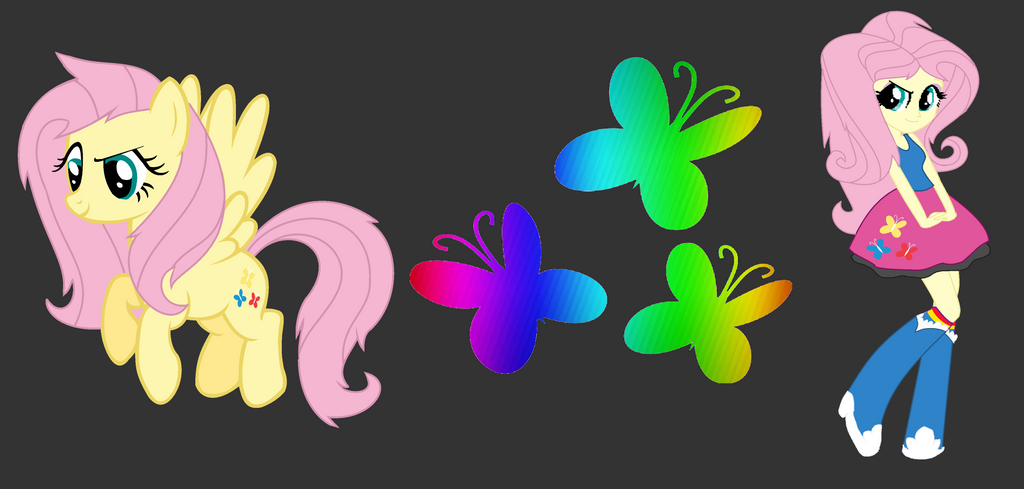 My Little Swap Fluttershy By Ppgmlpkndpokemongirl On