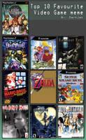 Dah Top 10 Videogames Meme