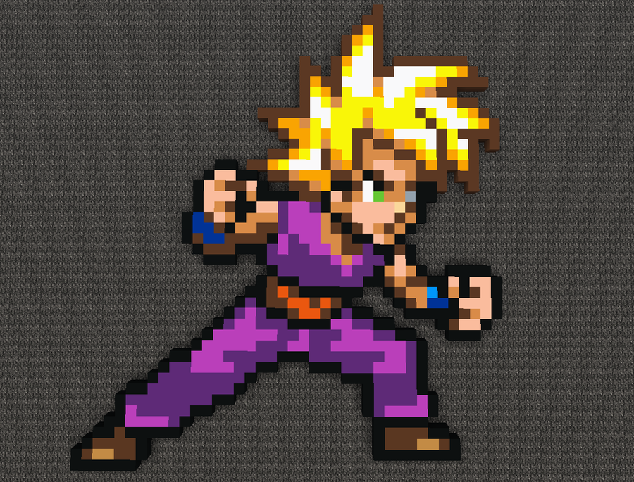 Pixel Art Dragon Ball Gohan
