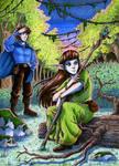 Dawning Forest by MichaelSilverleaf