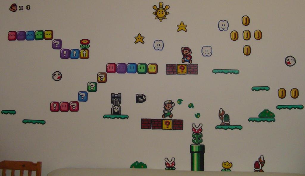 Hama Beads - Mario level I by acidezabs