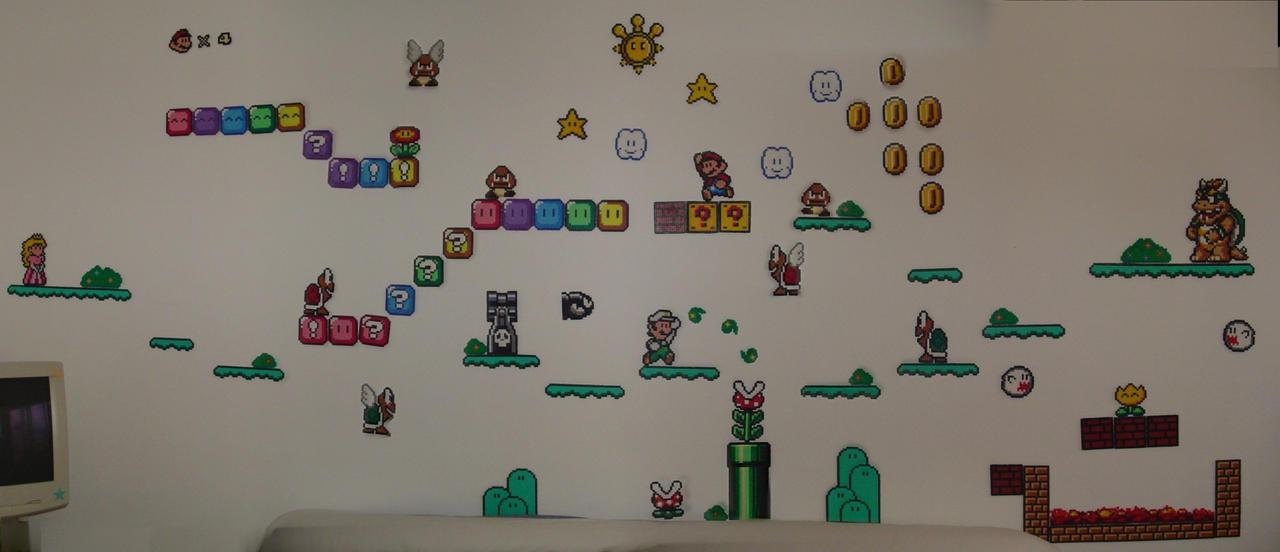 Hama Beads - Mario level II by acidezabs