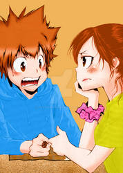 Tsuna and Haru by Sussy-chan