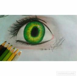 Green eye  by anvazamro