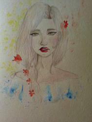 Unfinished watercolor work. by Dark-hell