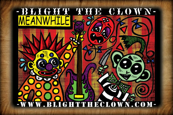 Blight the Clown Postcard Face by BrianABernhard