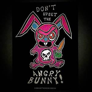 Dont Upset the Angry Bunny! (Tshirt design)