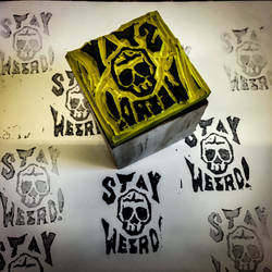 Stay Weird - Block Printing Stamp