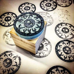 My Crazy Eye - Hand Carved Block Printing Stamp