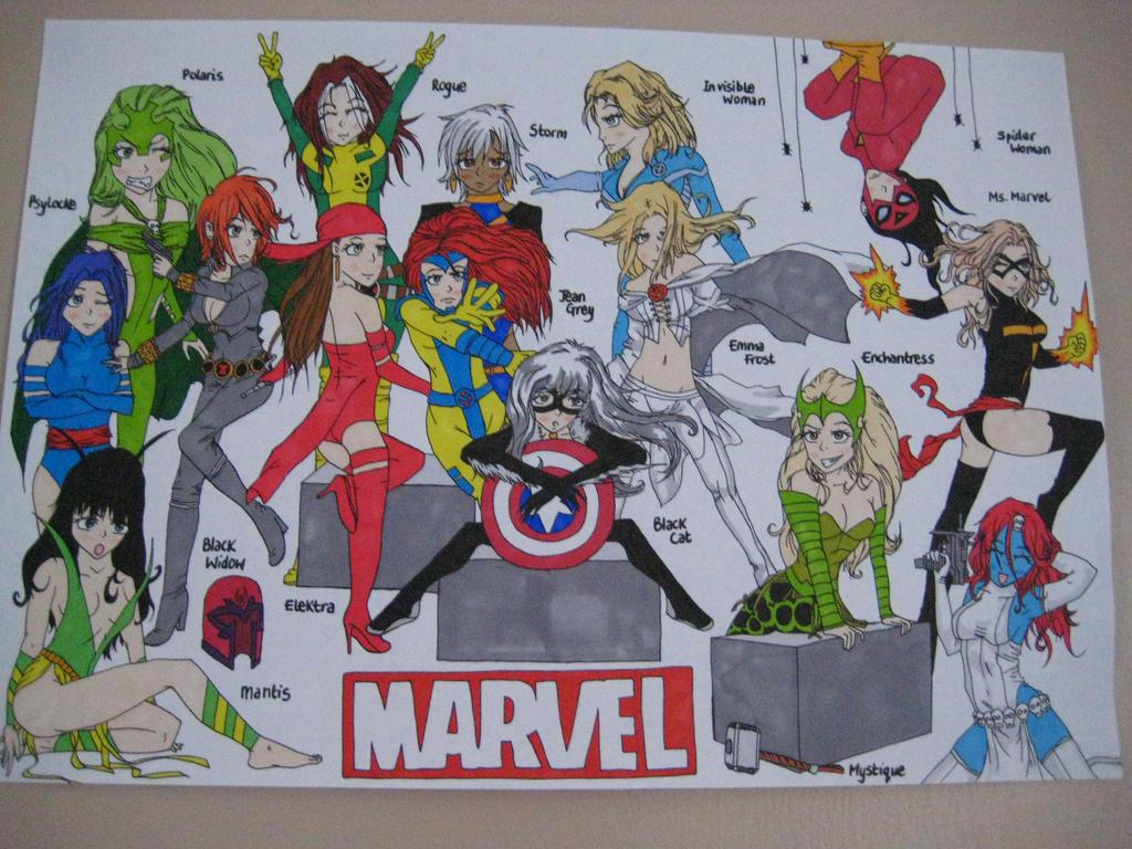 Marvel Female Superheroes and Villains