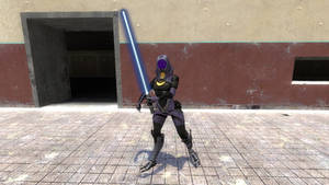 Tali'Zorah Vas Jedi by ScottWolf