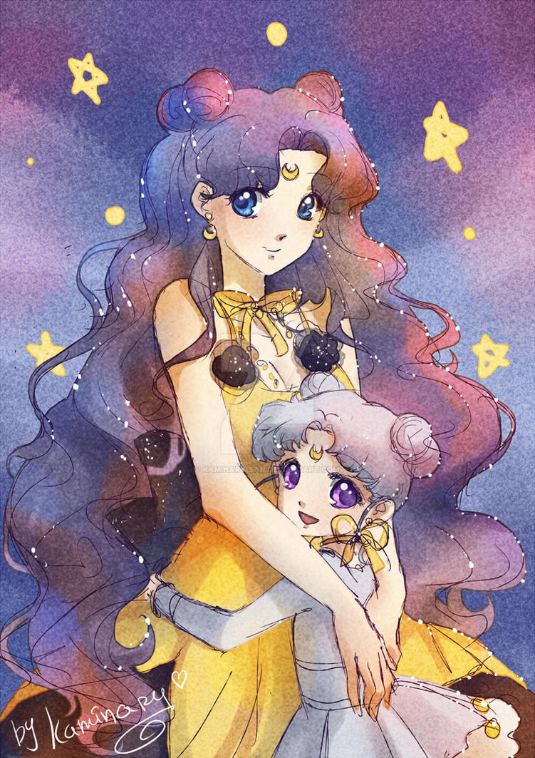 Moon cats by kaminary-san