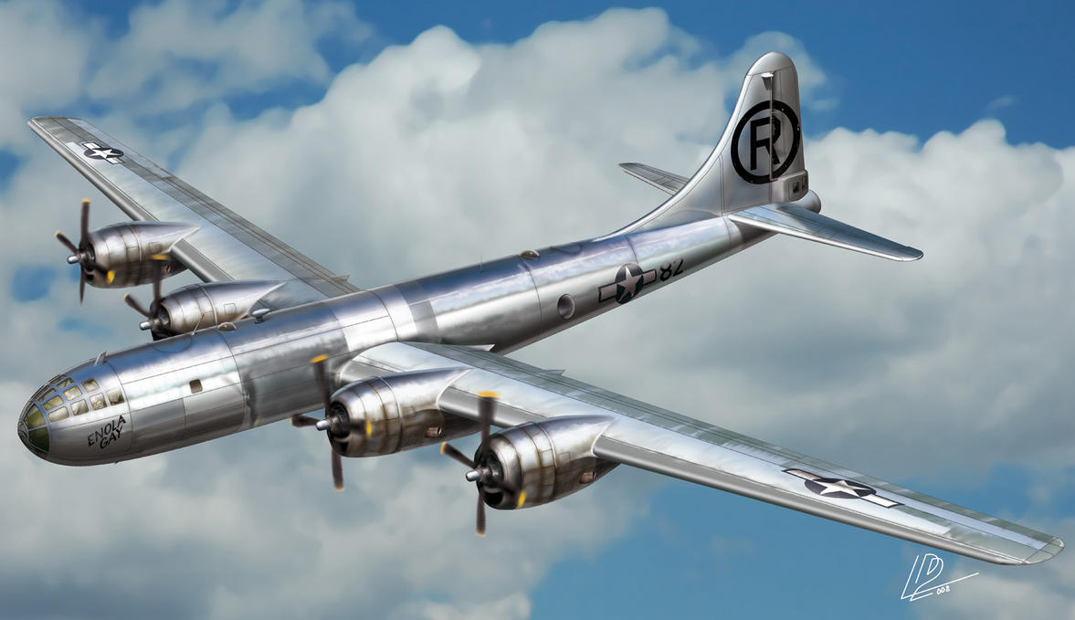 Boeing B29 'Enola Gay' by araeld