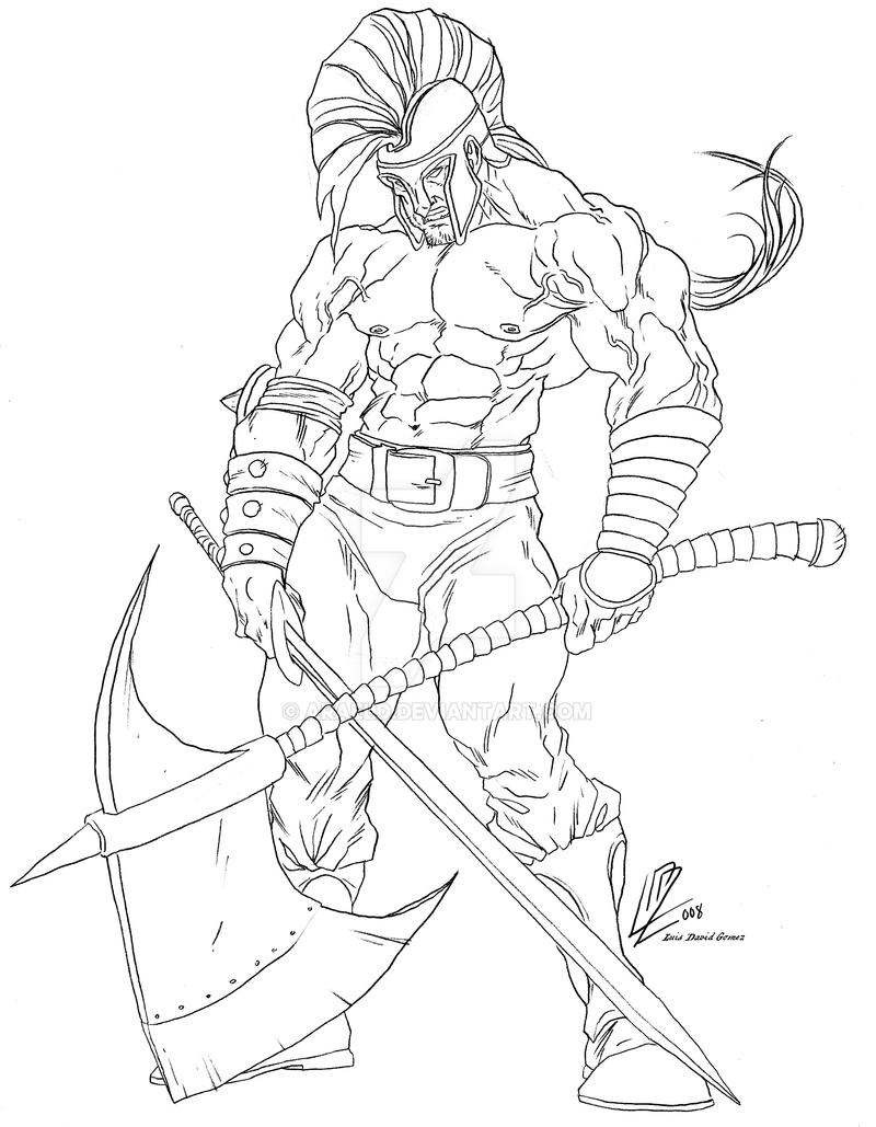 Greek God Ares Drawing Ares version by araeld...