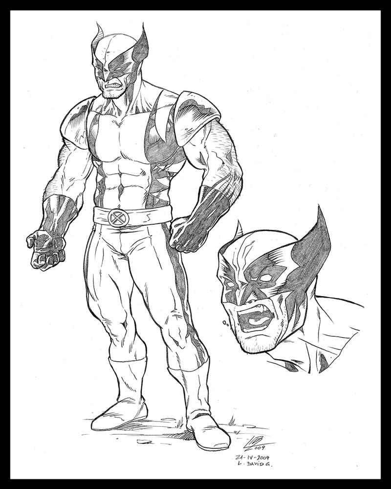 Wolverine Character drawings by araeld