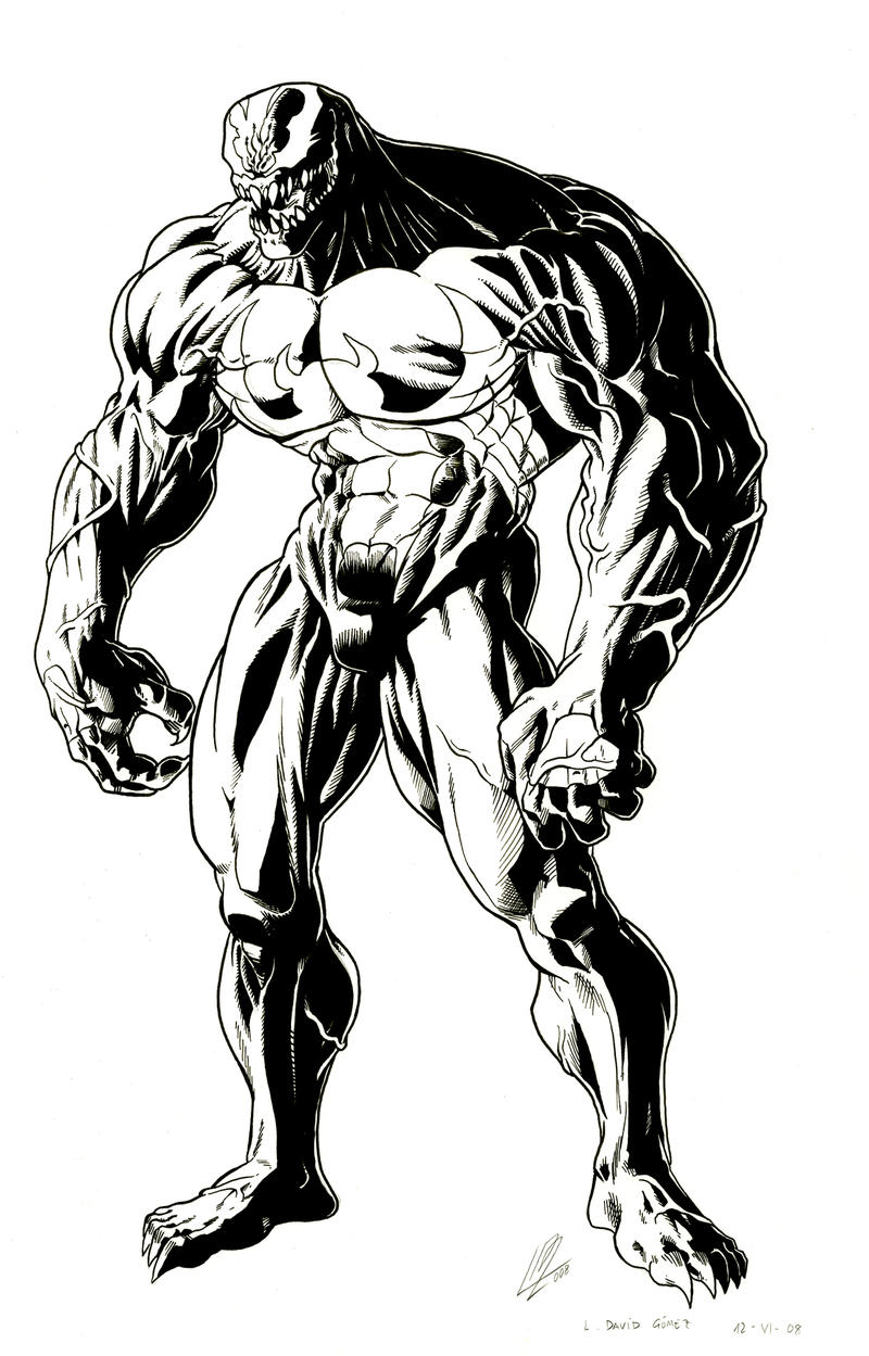 Venom indian ink by araeld