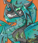 Chrysalis Dragon Form