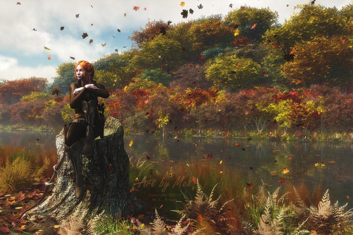 the river in autumn by art by mel da on deviantart