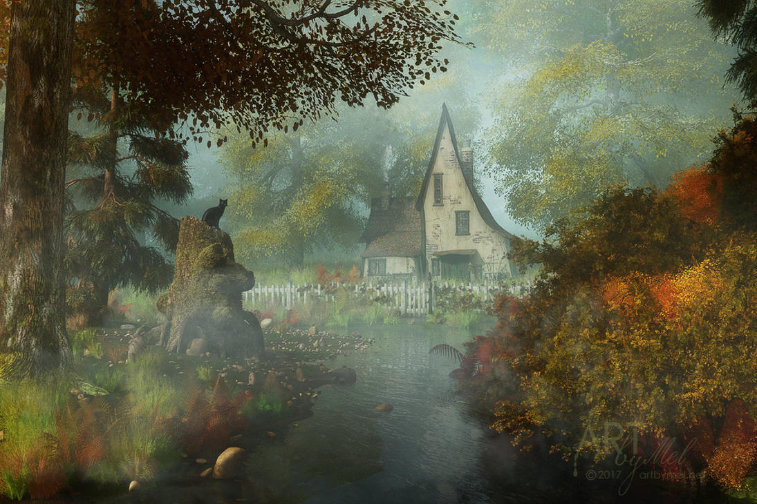 The House In The Glade By Art By Mel DA ...