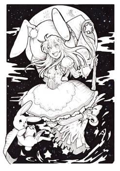 AA3- inktober- bunny witch