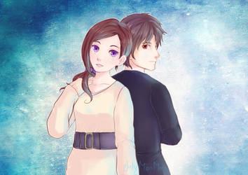 Akane and Junpei - Zero Escape Zero Time Dilemma by July-MonMon
