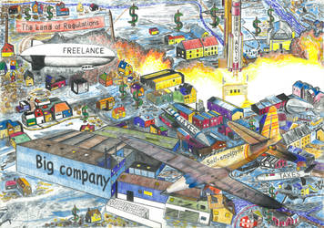 Financial kamikaze pilot (The Land of Regulations) by JacoDM