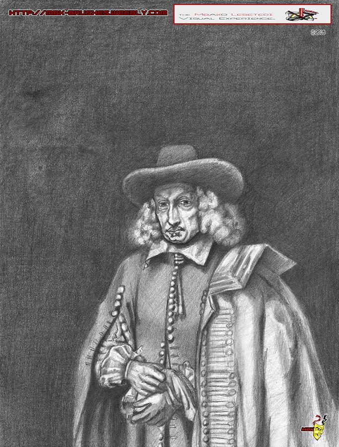 Rembrandt's Portrait of Jan Six Pencils by MbK14