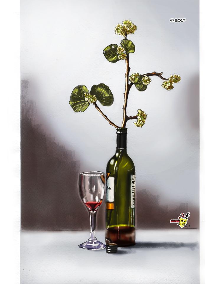 Wine bottle Stillife' by MbK14