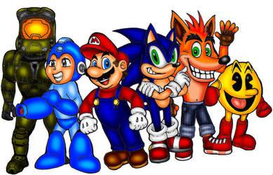 Video game heroes by VixDojoFox